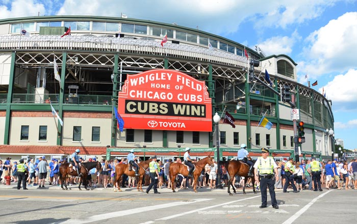 Wrigley Field in Chicago