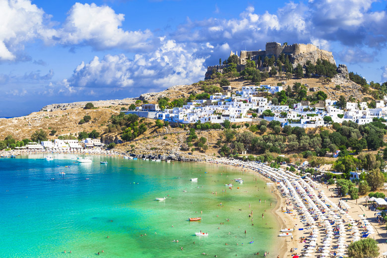 Lindos bay in Rhodes