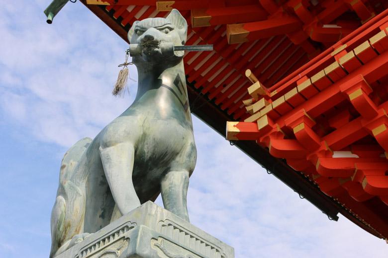 Fox Sculpture at Fushimi Inari-taisha Shrine