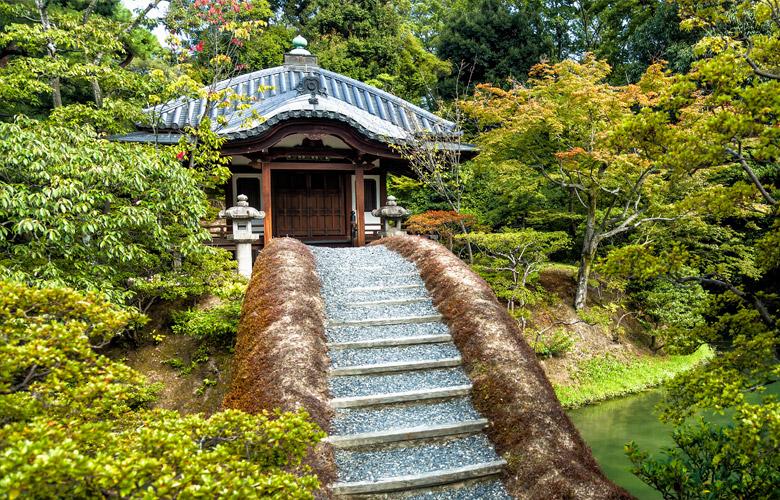 Tea House in Katsura Imperial Villa in Kyoto
