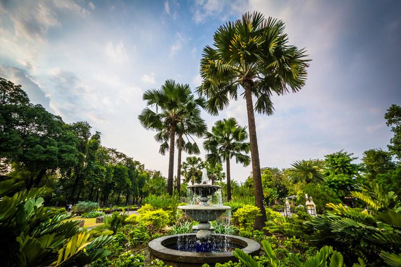 Garden in Fort Santiago in Manila