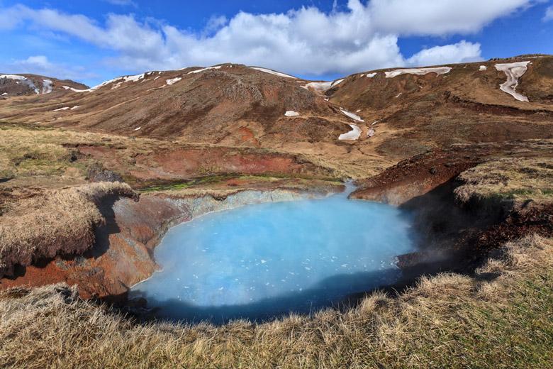Reykjadalur Hot Springs in Reykjavik