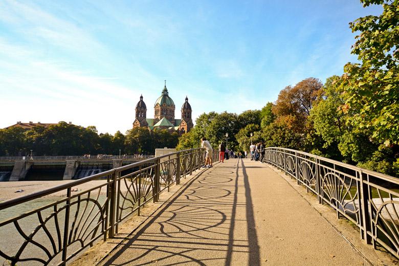 Bridge across the Isar River in Munich