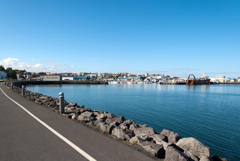 Port of Hafnarfjordur in Reykjavik
