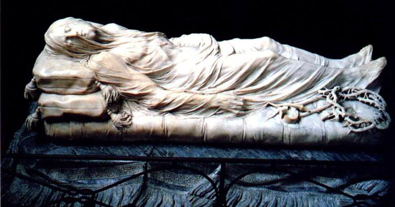 """""""Cristo Velato"""" (Veiled Christ) inside the Sansevero Chapel"""